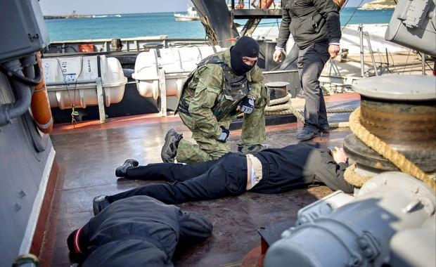 140320 - khmelnitsky assault 2 face down prisoner