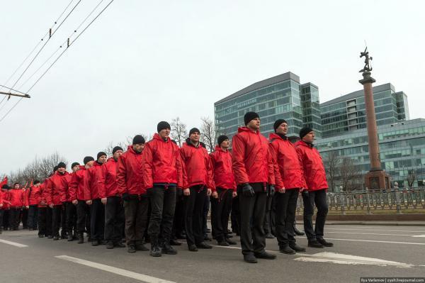 Photo by Ilya Varlamov. Followers of Kurganyan's left nationalists at pro-Putin march 15 March 2014.