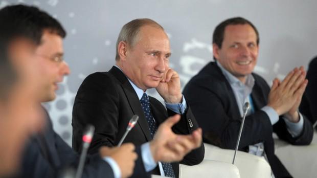 Putin at Internet Entrepreneurship in Russia forum at the Silver City Business Center in Moscow, June 10, 2014.(RIA Novosti / Alexei Druzhinin)