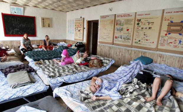 EMERCOM camp in Mazanka in Simferopol. Photo by Voice of Russia