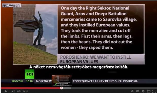 "Screengrab from RT.com anti-Ukraine ""Truthseekers"" Episode"