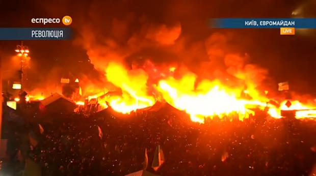 intensifying fire