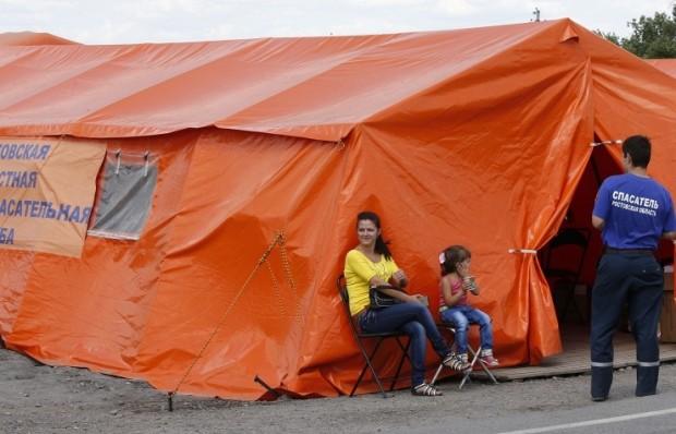 Refugees from Ukraine in Rostov cared for by EMERCOM. Photo by ITAR-TASS/Valery Matytsin